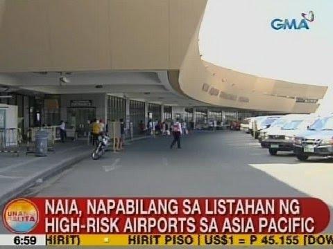 UB: NAIA, napabilang sa listahan ng high-risk airports sa Asia Pacific