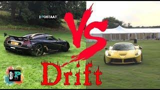 Grass drift laferrari drifting