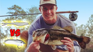 FLUKE vs FLY! Which is Better??? | Fly Fishing for Bass!