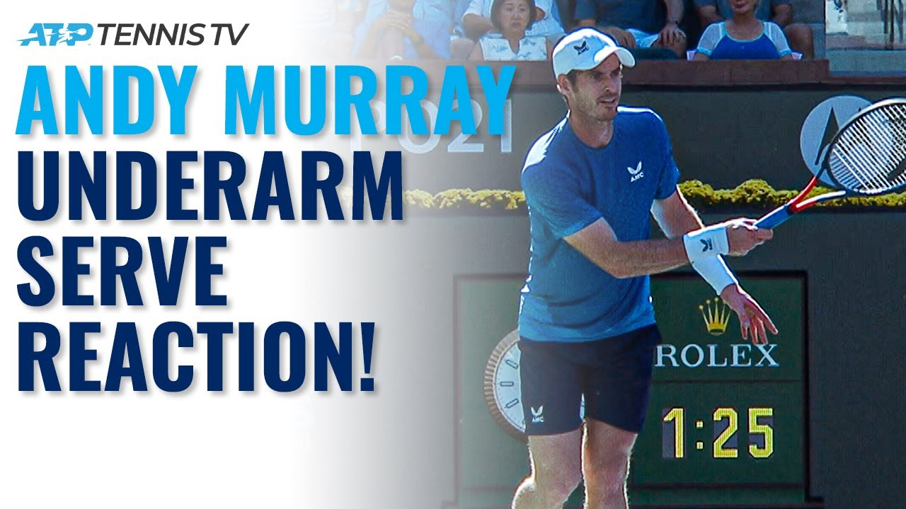 Andy Murray Reacts to the Underarm Serve! - YouTube