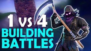 1 vs 4 BUILDING BATTLES | HIGH KILL DAEQUAN SOLO VS SQUAD - (Fortnite Battle Royale)