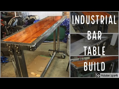 Modern Industrial Bar Table Build