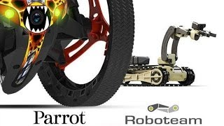 Amazing robots fight: Parrot Jumping Sumo vs. Roboteam MTGR