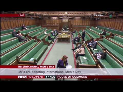 17 November 2016: House of Commons debate on International Men's Day