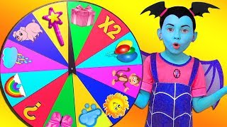 Junior Vampirina and Alice Playing with Magic Wheel