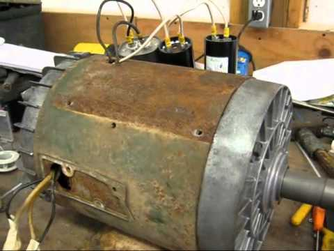 5HP SinglePhase Dayton Farm Duty Electric Motor  YouTube