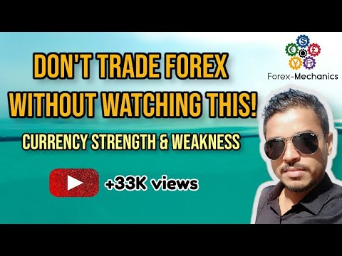 Currency strength and weakness - Do not trade Forex without watching this
