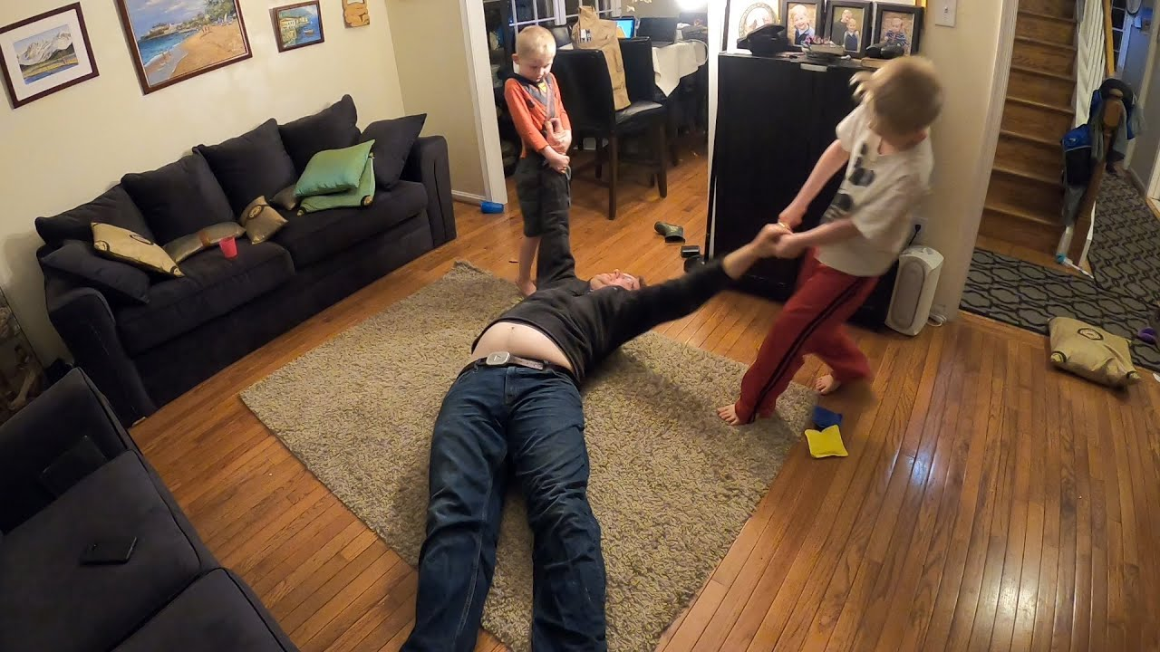 Deadweight Dad Challenge - Best Quarantine Game for Tired Parents!!!