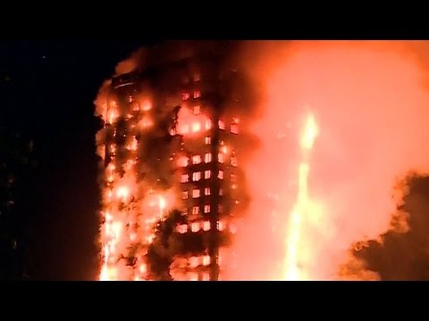 London high-rise fire leaves unknown number dead