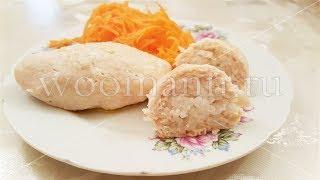 Котлеты с начинкой из риса на пару