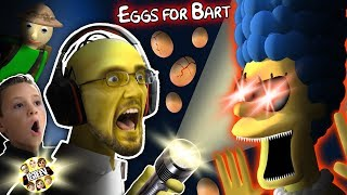 SIMPSONS GURKEY GAME!  FGTEEV gets EGGS FOR BART!  (Dudz w/ Chase
