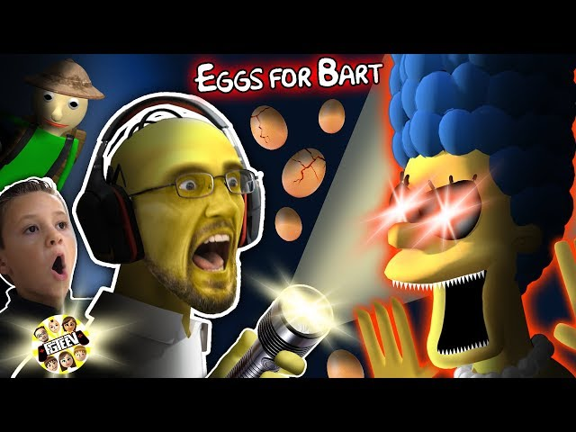 SIMPSONS GURKEY GAME!  FGTEEV gets EGGS FOR BART!  (Dudz w/ Chases Voice!)
