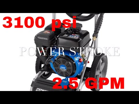 The Power Stroke 3100 PSI Gas Pressure Washer!! 212cc OHV