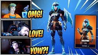 STREAMERS REACT *NEW* FEMALE RAGNAROK VALKYRIE SKIN! - Fortnite Epic & Funny Moments (Fortnite BR)