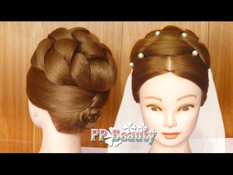 เกล้าผมทรงตะกร้อ สำหรับเจ้าสาวผมยาว : Bridal Updo for Long Hair
