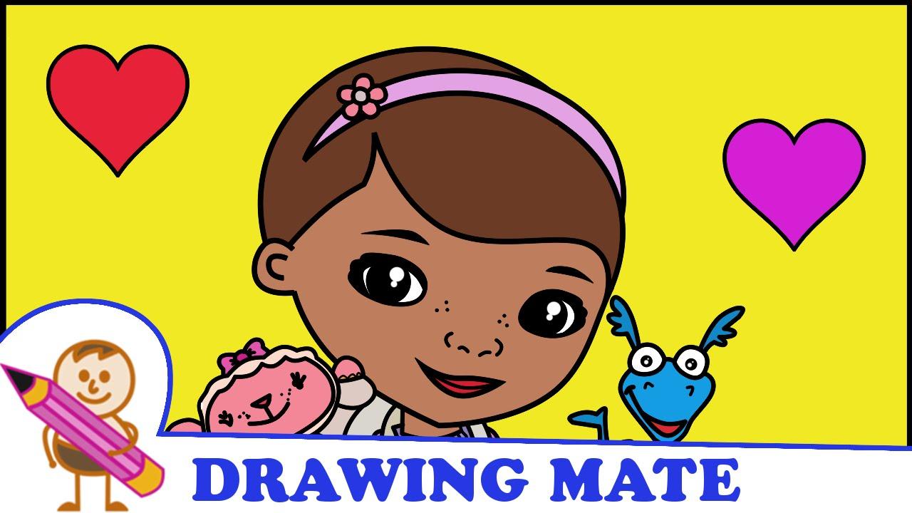 doc mcstuffins coloring pages for kids klinika dla pluszakow