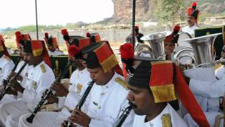 Sainik School Bijapur, Maratha Light Infantry Band at Badami  4)