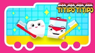 Titipo Songs l Titipo Tooth Brushing Song l Tayo Nursery Rhymes l Tayo the Little Bus