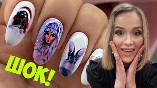 Любой дизайн ногтей за 20 секунд😍 Шок 😱 Маникюр с принтером О2 Nails
