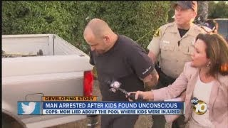 Man arrested after kids found unconscious in pool