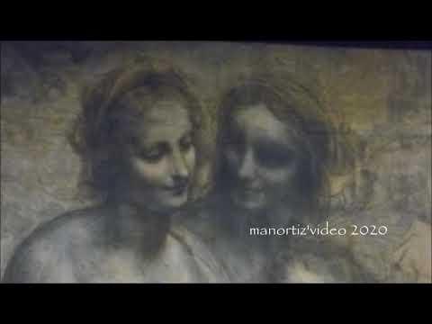 Leonardo,  The Virgin And Child, St Anne And St John, Burlington House Cartoon, NG, Manortiz
