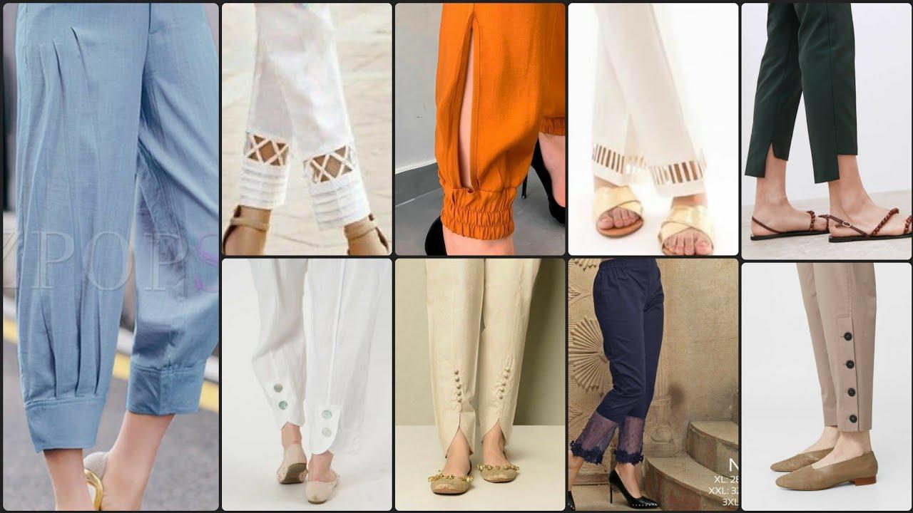 Latest very Stylish  Cross pearl Designer Cotton Fancy pants/Trouser/Plazz/tulip pant & Capri De