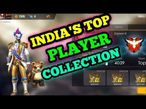 INDIA'S TOP PLAYER COLLECTION | RICHEST PLAYER EVER | GARENA FREEFIRE