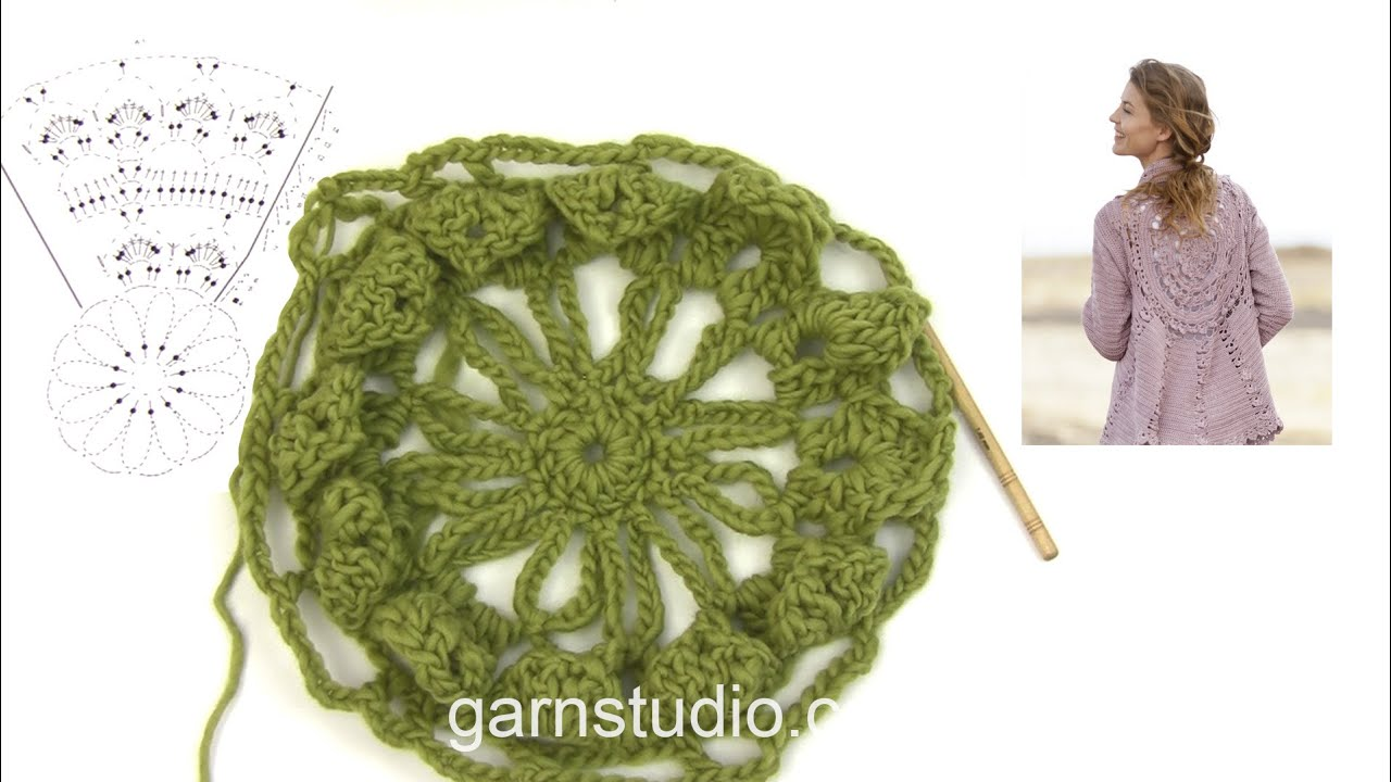 How To Crochet The Beginning Of The Circle Jacket In Drops 162 11
