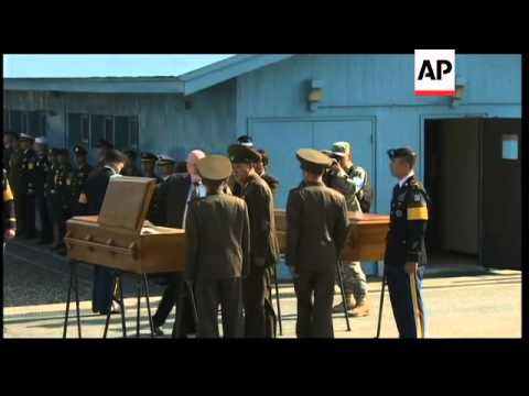 Bodies of NKorean soldiers swept away by floods return home