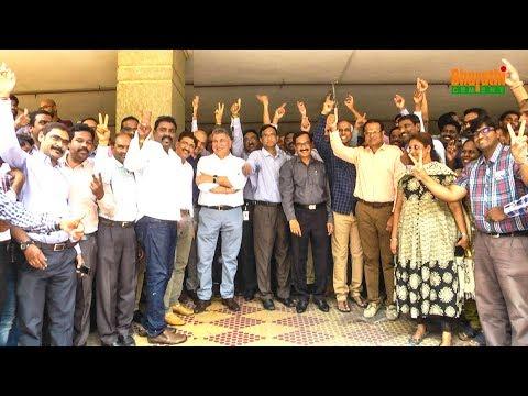 YSRCP Winning Celebrations At Bharathi Cement Office Hyderabad