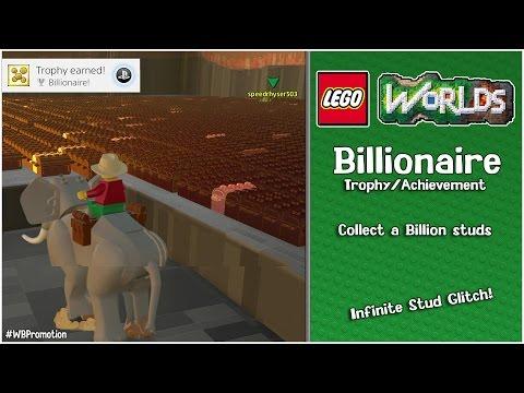 """Lego Worlds: """"Billionaire"""" Trophy/Achievement (Infinite Stud Glitch) - HTG"""