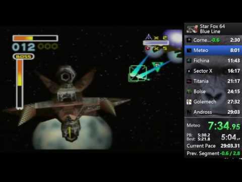 Star Fox 64 Blue Line PB 27:58