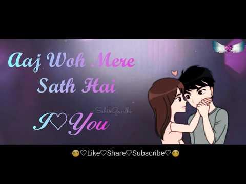 Kal Tak Jiske Sapne Dekhe || Romantic WhatsApp status video || lyrics video