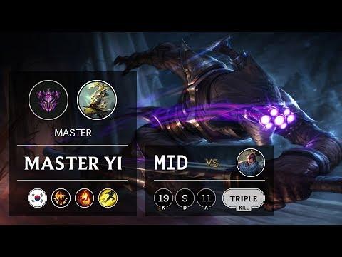 Master Yi Mid Vs Yasuo - KR Master Patch 9.20