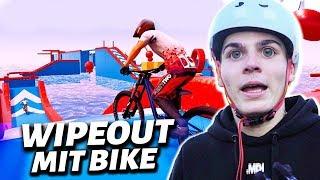 SCHAFFE ich den WIPEOUT PARKOUR mit Bike 😱