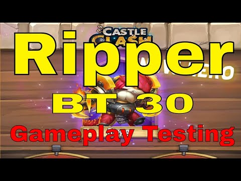 Castle Clash Ripper BT 30 New Hero Gameplay At Breakthrough 30