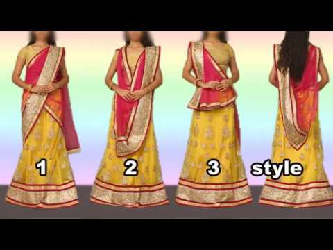 How to Wear Lehenga with Different Style of Dupatta Draping