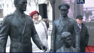 Открытие памятника героям фильма «Офицеры» на Фрунзенской набережной