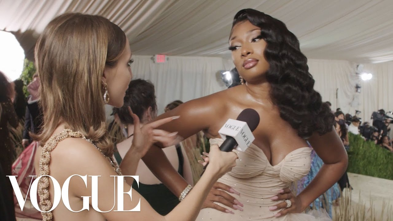 Megan Thee Stallion on Her Old Hollywood Met Gala Look   Met Gala 2021 With Emma Chamberlain   Vogue