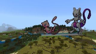 Minecraft Pixel Art Timelapse: Making Mew From Pokémon
