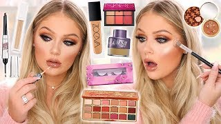 TESTING NEW VIRAL OVERHYPED MAKEUP | FULL FACE FIRST IMPRESSIONS