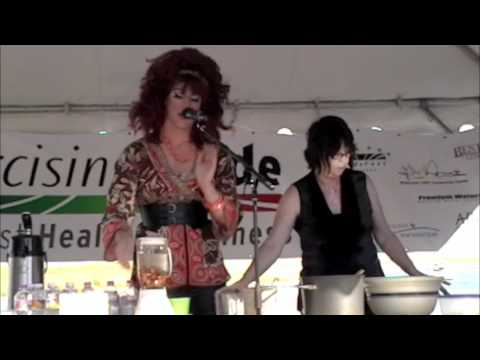 Live Vegan Cooking Demo with Honey LaBronx @ Pridefest Milwaukee (Seitan & Almond Milk)