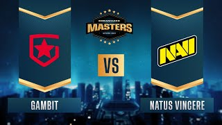 CS:GO - Gambit vs. Natus Vincere [Mirage] Map 3 - DreamHack Masters Spring 2021 - Group A