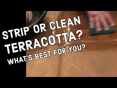 To Strip or To Clean Terracotta Tile Flooring | How To Find Out | Restoration Tips