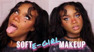 SOFT E-GIRL MAKEUP | FENTY BEAUTY SNAP SHADOWS | BLACK GIRL FRIENDLY | ft. TALEVER HAIR