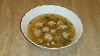 Суп с индюшиными фрикадельками за 15 минут.