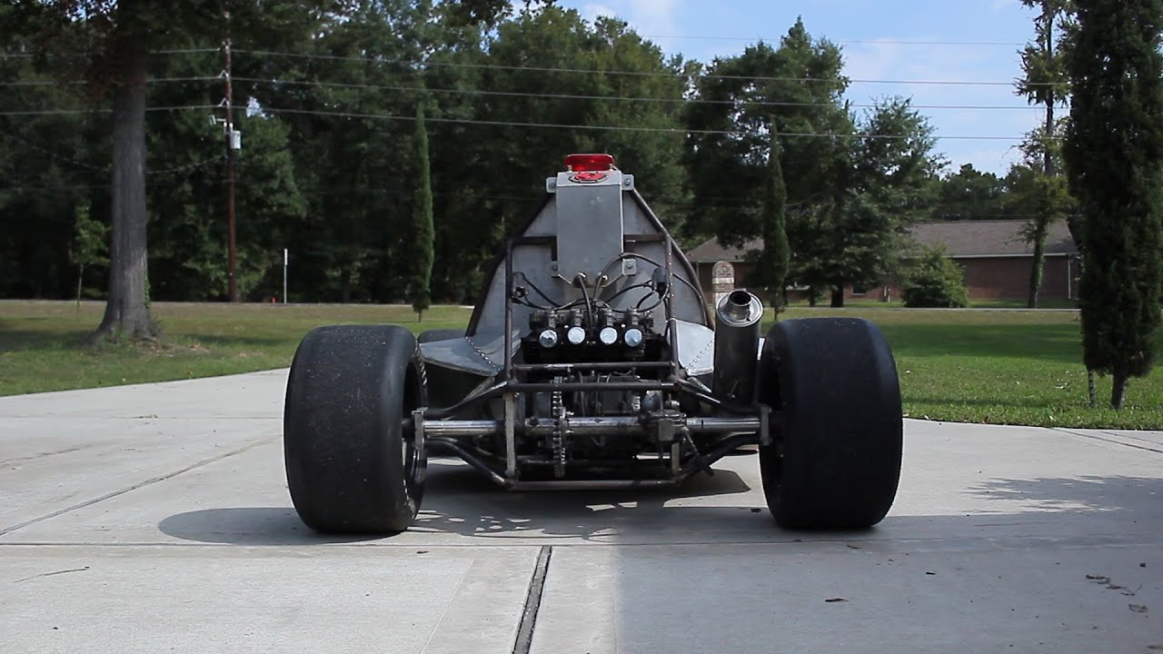 Go Kart powered by KZ650 motorcycle engine - YouTube