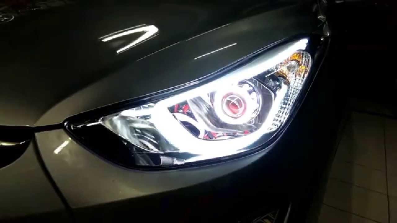 Cinta Neon Flexible En Hyundai Elantra Youtube