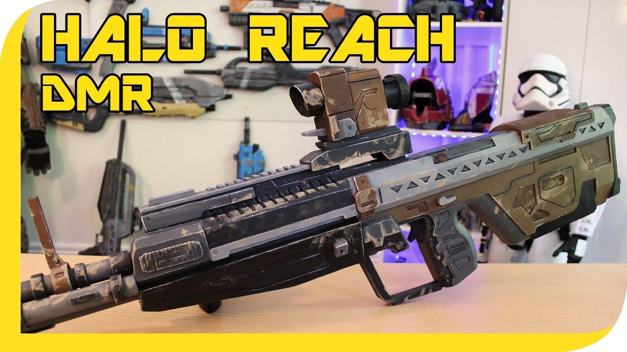 Halo Reach Dmr Cosplay Prop Youtube