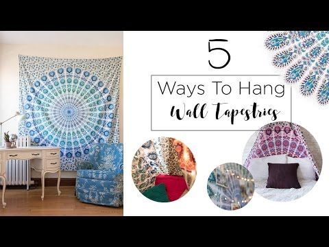 5 Ways to Hang A Wall Tapestry